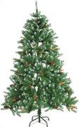 Christmas Gifts Χριστουγεννιάτικο Δέντρο 180cm με χιόνια και κουκουνάρια 708 κλαδιά