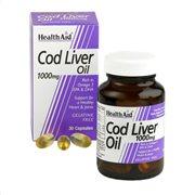 Health Aid Cod Liver Oil 1000mg 30 caps