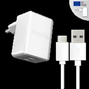Energizer Φορτιστής Ταξιδιού 2.4A 2USB EU & Καλώδιο Type-C