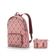 Reisenthel τσάντα πλάτης mini maxi rucksack σειρά Diamonds Rouge