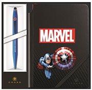 Cross Στυλό Ballpoint με Σημειωματάριο Captain America Tech 2