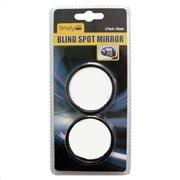 Simply Καθρέφτης Εσωτερικός Αυτοκινήτου Τυφλού Σημείου Μαύρος Στρογγυλός Σετ 2τμχ