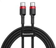 BASEUS καλώδιο USB Type-C CATKLF-G91 3A 60W PD2.0 1m μαύρο-κόκκινο