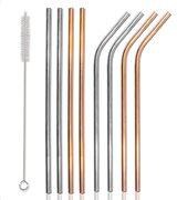 Σετ μεταλλικά καλαμάκια & βουρτσάκι καθαρισμού CLN-0021 9τμχ
