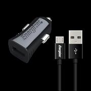 Energizer Φορτιστής Αυτοκινήτου 1A & Καλώδιο Micro USB Μαύρο
