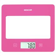 Sencor sks 5028rs (ροζ) ζυγαριά κουζίνας γυάλινη βάση