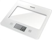 Sencor sks 5020wh (λευκό) ζυγαριά κουζίνας γυάλινη βάση