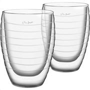 Lamart lt9013 σετ 2 γυάλινα ποτήρια χυμού σειρά vaso 370ml