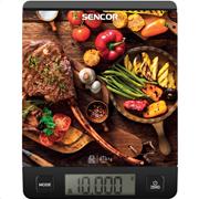 Sencor sks 7001bk (μαύρο) ζυγαριά κουζίνας γυάλινη με σχέδια