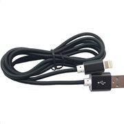Simply Καλώδιο Data USB to Lightning USB 1,5m Πλεκτό Μαύρο
