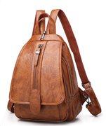 Γυναικεία τσάντα πλάτης LBAG-0001 καφέ