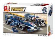 "SLUBAN Τουβλάκια 1:32 Racing Car ""Blue Lightning"" M38-B0351 196τμχ"