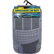 Simply Πατάκια αυτοκινήτου Ambassador Γκρι PVC Σετ 4τμχ