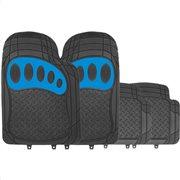Simply Πατάκια αυτοκινήτου Venture Μαύρο/Μπλε PVC Σετ 4τμχ