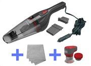 Black+Decker 12VDC Σκουπάκι Αυτοκινήτου 2ης γενιάς με αξεσουάρ + Βούρτσα Καθαρισμού και πανάκι