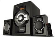 POWERTECH Ηχεία 2.1ch Bluetooth 60W RMS AUX/FM τηλεχειριστήριο μαύρα