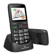 POWERTECH Κινητό Τηλέφωνο Sentry GPS SOS Call Dual Sim με φακό μαύρο