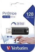 Verbatim PinStripe USB 3.0 Drive 128GB Black
