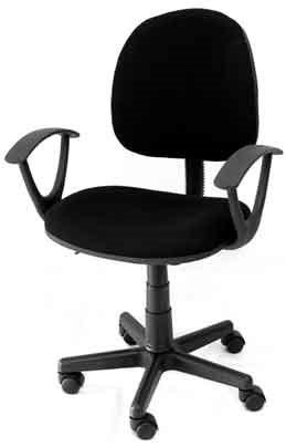 Velco Καρέκλα Γραφείου με Ανάκλιση Μαύρο Κ08642-1