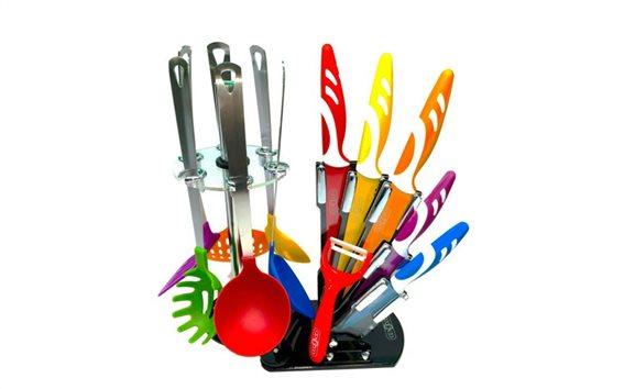 Σετ Μαχαίρια Κουζίνας με Αντικολλητικά Μαχαίρια, Κουτάλες & Σπάτουλες, Cenocco CC-KT12