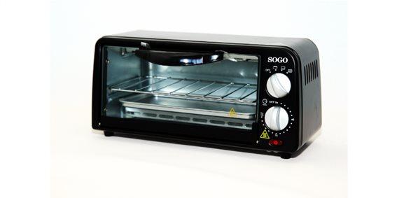 SOGO Φουρνάκι Γκριλ - Grill 650W 33.9 x 19. 9 x 16.3 cm, HOR-SS-10305