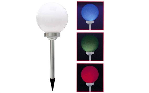 Φαναράκι κήπου LED ηλιακό που αλλάζει χρώματα με τηλεκοντρόλ διάμετρος 25cm, Kynast 613-623676