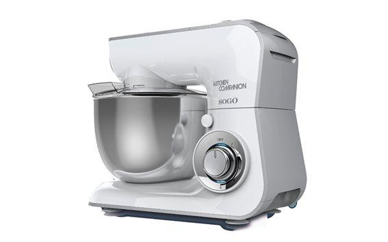 SOGO Επαγγελματική Κουζινομηχανή Μίξερ 600W με ανοξείδωτο κάδο 3.6L, BAT-SS-14525