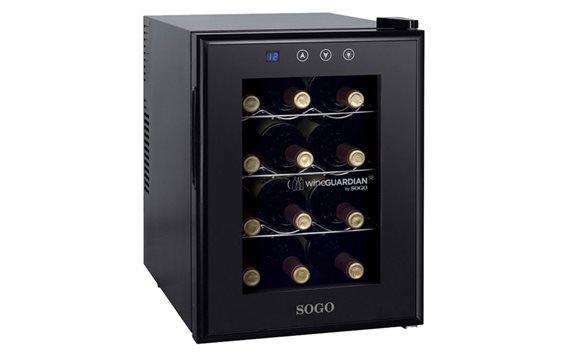 SOGO Ψυγείο Συντηρητής Κρασιών 33L 12 φιαλών με LED οθόνη θερμοκρασίας, NEV-SS-145