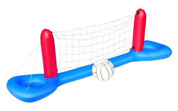 Πτυσσόμενο Φουσκωτό Σετ Volley 244x64cm σε Μπλε Χρώμα με μπάλα Water Volley, Bestway 52133