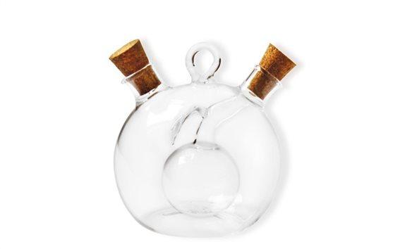 Luigi Ferrero Γυάλινο Μπουκάλι Λαδιού Ξυδιού σε Μοντέρνο σχεδιασμό 2 σε 1, FR-6052