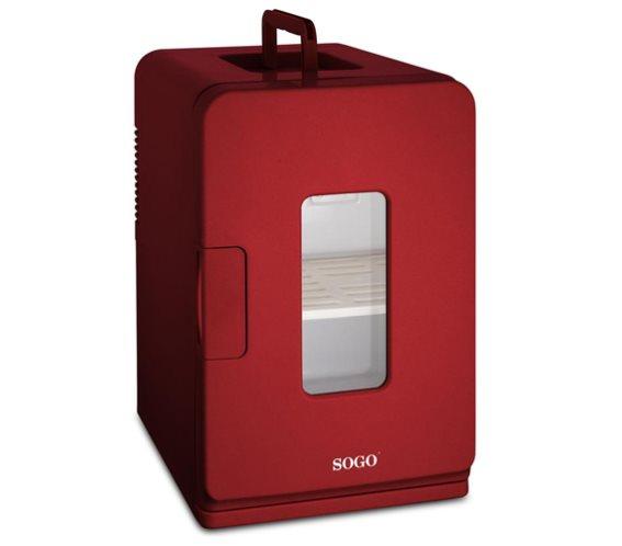 SOGO Mini Φορητό Ψυγείο 15L Κόκκινο με Επιλογή για Ζεστή ή Κρύο, NEV-SS-475