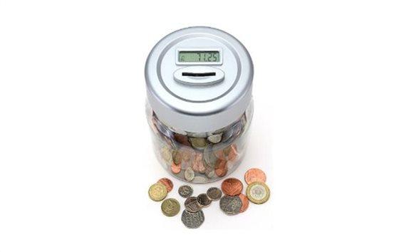 Κουμπαράς καταμετρητής κερμάτων ευρώ με Ψηφιακό Μηχανισμό Μέτρησης