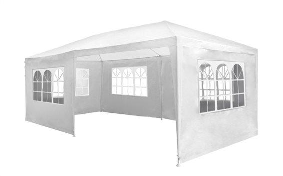 Lifetime Garden Κιόσκι Τέντα Αδιάβροχη Partytent με Μεταλλικό σκελετό 6x3x2.5 m σε Λευκό Χρώμα,