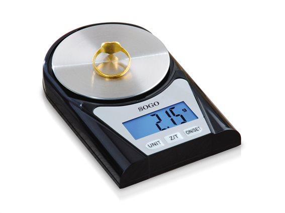 SOGO Μίνι Ψηφιακή Ζυγαριά Χρυσοχοΐας Ακριβείας 0,02g - 200gr, BAP-SS-3995