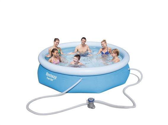 Bestway Φουσκωτή Πισίνα για Εξωτερικό χώρο 305x76cm σε Μπλε χρώμα, 57270