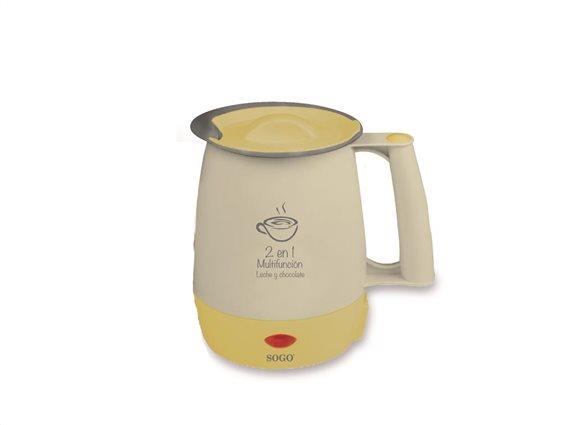 SOGO Βραστήρας 1lt πολλών χρήσεων για Γάλα, Νερό και Σοκολάτα 400W, KET-SS-5775