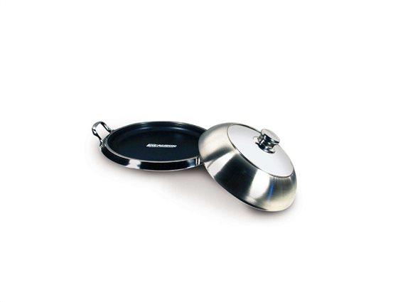 SOGO Τηγάνι - Δίσκος Σερβιρίσματος από Ανοξείδωτο ατσάλι με Αντικολλητική επίστρωση