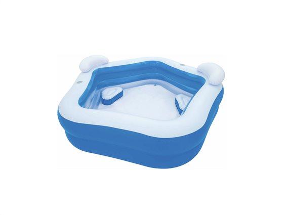 Bestway Φουσκωτή Πισίνα για Εξωτερικό χώρο 207x69x213cm για 4 άτομα σε Λευκό-Γαλάζιο χρώμα, 54153