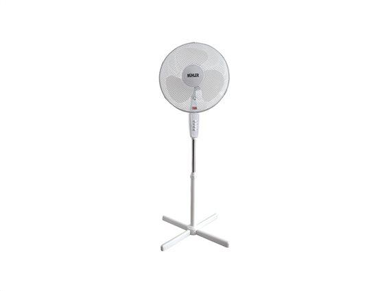 Muhler Ανεμιστήρας Δαπέδου Ορθοστάτης 45W Με 3 Ταχύτητες Σε Λευκό χρώμα, FM-3232