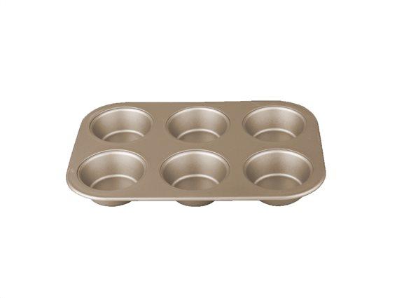 Berlinger Haus Φόρμα ψησίματος 6 θέσεων για Muffins, My bronze pastry cook, BH-1429