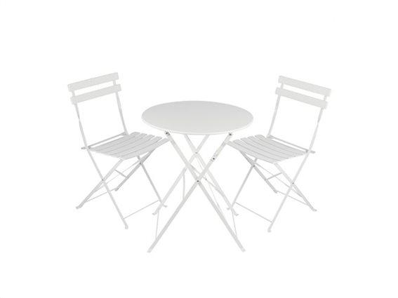 Lifetime Garden Σετ Μεταλλικά Έπιπλα Κήπου & Βεράντας Τραπεζάκι με 2 Καρέκλες Bistro, 03198