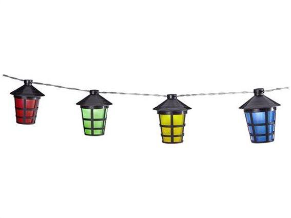 Outdoor Lights Πολύχρωμα Φωτάκια LED Φαναράκια Κήπου 10 τεμ. με 1,65m Καλώδιο, 99305