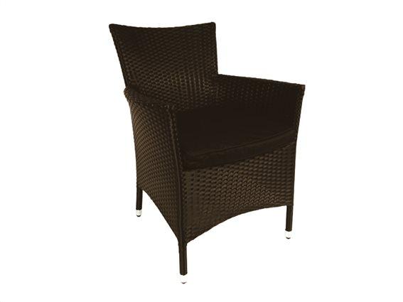 Lifetime Garden Καρέκλα Πολυθρόνα Jamaica 83x51x47cm σε Καφέ σκούρο χρώμα, 00204