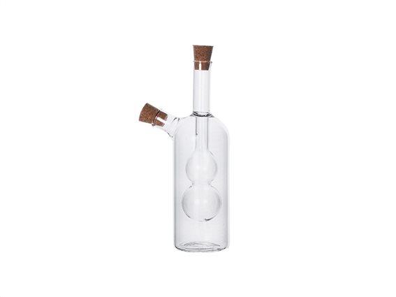 Luigi Ferrero Γυάλινο Μπουκάλι Λαδιού Ξυδιού σε Μοντέρνο σχεδιασμό 2 σε 1, FR-6051