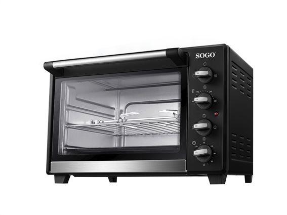 SOGO Επαγγελματικό Φουρνάκι Ψησταριά 1600W χωρητικότητας 35Lt σε Μαύρο χρώμα