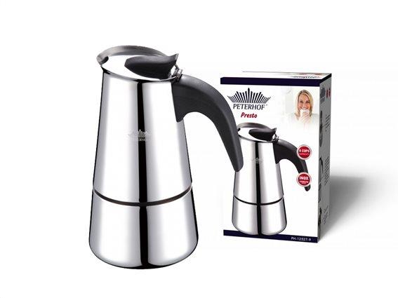 Peterhof Καφετιέρα Espresso 810ml για 9 φλυτζάνια από Ανοξείδωτο ατσάλι, PH-12527-9