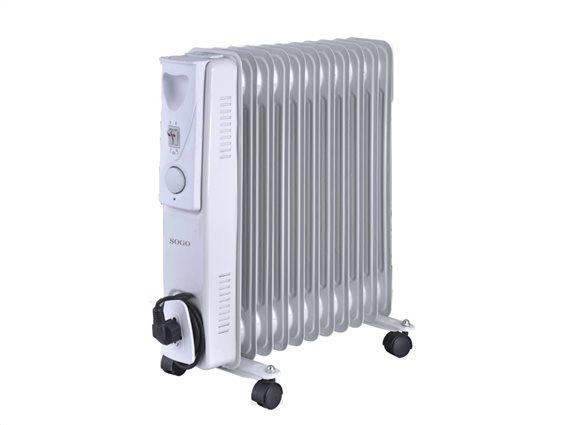 SOGO Ηλεκτρικό Φορητό Καλοριφέρ Λαδιού Θερμαντικό Σώμα με Μέγιστη Ισχύ 2500W
