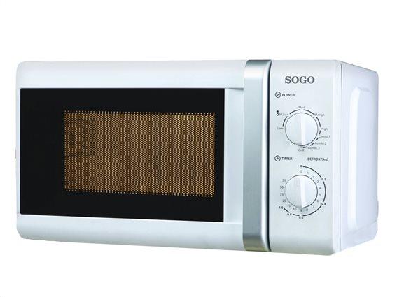 SOGO Φουρνάκι Μικροκυμάτων 700W με Λειτουργία Γκριλ Grill 1000W χωρητικότητας 20L