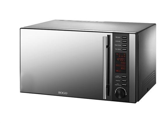 SOGO Φουρνάκι Μικροκυμάτων 900W με Λειτουργία Γκριλ Grill 1000W χωρητικότητας 25L