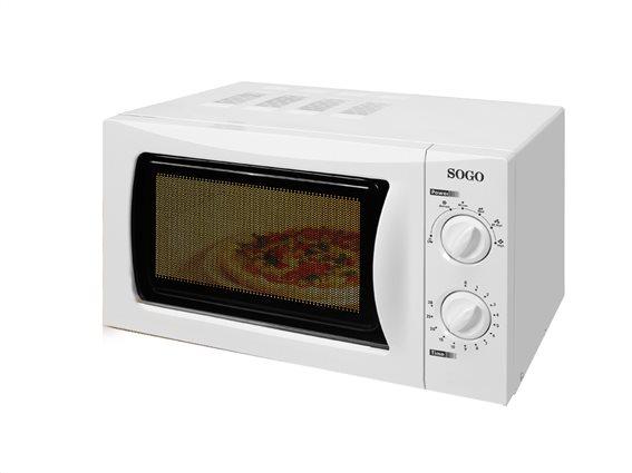 SOGO Φουρνάκι Μικροκυμάτων 700W χωρητικότητας 20L με 6 επίπεδα θέρμανσης σε Λευκό χρώμα, HORNO-755